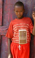 Emergency Unit (LindsayStark) Tags: africa travel boy red portrait children war child refugee conflict somali ethiopia humanrights humanitarian somalia displaced refugeecamp humanitarianaid emergencyrelief postconflict waraffected conflictaffected