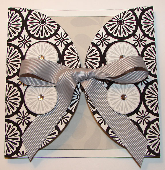 Black and White Congratulations Card