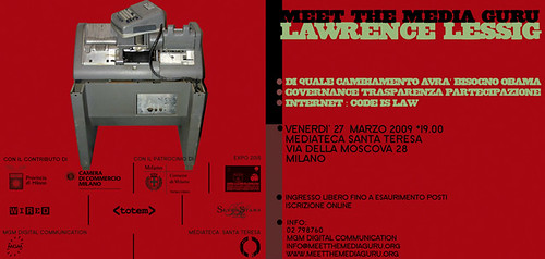 Lessig a Milano il 27.11.2009