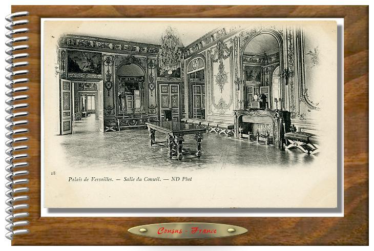 18  Palais Versailles. - Salle du Conseil.