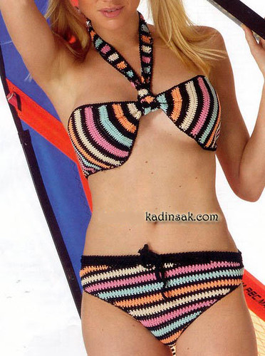örgü bikini modelleri.