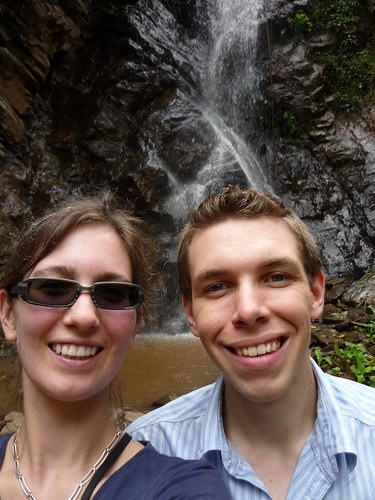 Ed and Kate at Kambuga waterfall