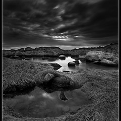 Color? We don't need no stinkin' color!! (Dave the Haligonian) Tags: ocean sunset sea sky bw panorama canada coast blackwhite novascotia stitch dusk line atlantic shore maritime blended peggyscove eastdover copyrightallrightsreserved davidsaunders vertorama davethehaligonian colorwedontneednostinkincolor dsc800709