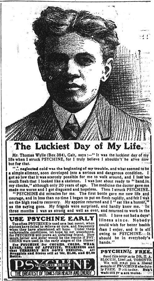 Vintage Ad #758: Psychine and the Luckiest Day of My Life