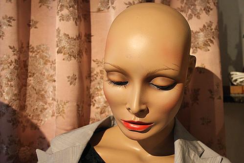 bald head woman
