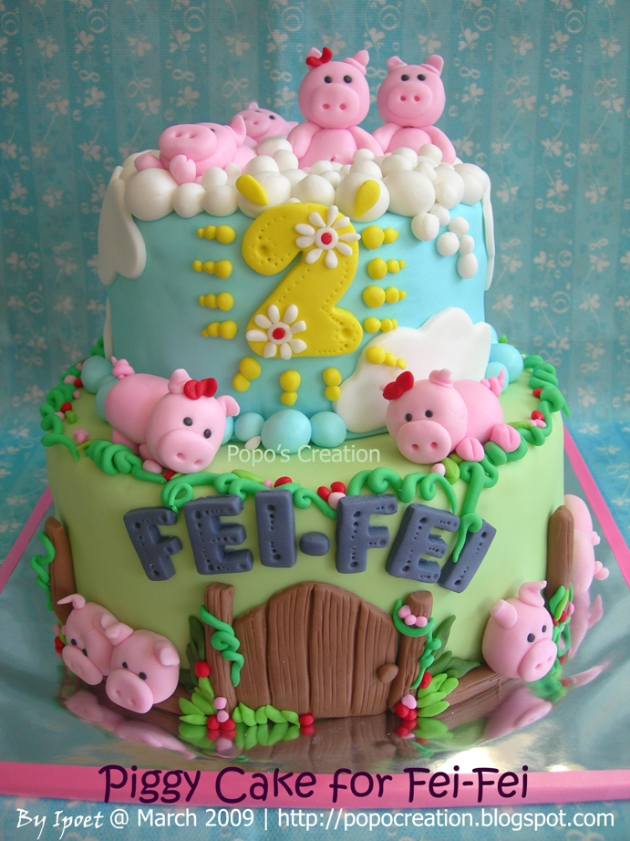 Piggy cake for Fei-Fei