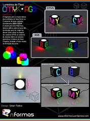 Luminarias CMYK e RGB