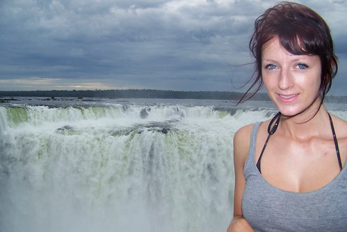 Me, early in the morning at the Devil's Throat at Iguazu Falls, Argentina