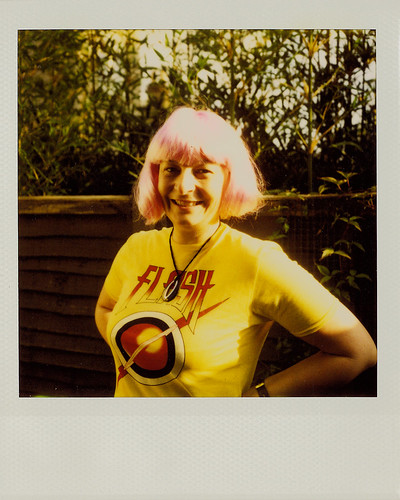 Louise in Pink Wig | SX-70