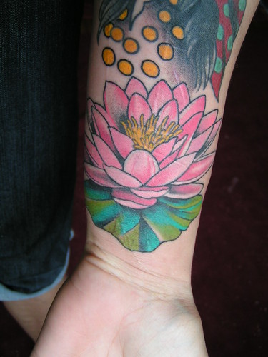 Lotus Tattoo Wrist