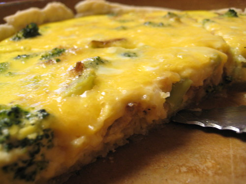 Onion broccoli quiche