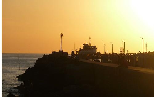 Rambla di Montevideo al tramonto