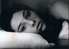 Ellie Sleeping II (Sophie Treloar) Tags: sleeping portrait blackandwhite woman white slr girl lady slumber sheets ellie pillow blackandwhitefilm