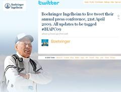 Boehringer Ingelheim: Live-Twitter von der jährlichen Pressekonferenz