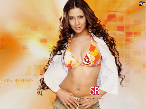 Kim Sharma in bra