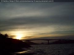 Quase noite (Camila Geek Girl) Tags: bridge sunset sun sol nature do natureza ponte prdosol     pr