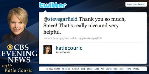 Katie Couric Tweet