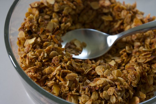i made granola last night