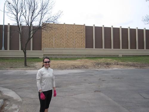 Carly along 35W Sound Wall