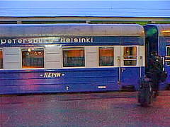 sptrain01 St. Petersburg, Russia, Railway Station 2000 (CanadaGood) Tags: morning blue color colour station night train dawn evening europe 2000 russia railway saintpetersburg russian 2000s sanktpeterburg  russianfederation  canadagood