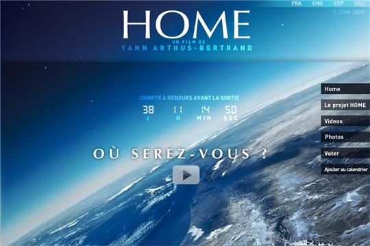 Projet Home de Luc Besson et Yann Arthus Bertrand sur Youtube