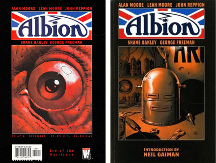Left: Albion number 3. Right: The Albion book