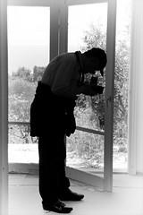 The photographer (Paterdimakis) Tags: portrait people bw white black face silhouette dark nikon photographer shape negre d300