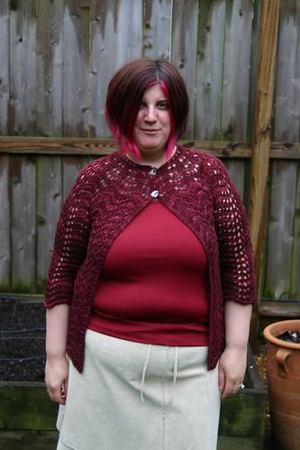 Liesl sweater, after blocking