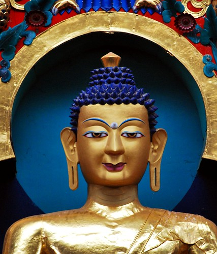 Shakyamuni Buddha Statue in Namdroling Monastery (image from Raja1847 on Flickr)