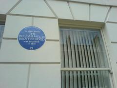 Photo of The Pre-Raphaelite Brotherhood blue plaque