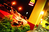 3AM Drive Thru (65870024) (Fadzly @ Shutterhack) Tags: film analog catchycolors fastfood malaysia drivethru analogue superia100 terengganu kualaterengganu kodakgold200 my leicar6 fadzlymubin shutterhack negativefilmscan leitzleicasummicronr3520