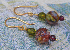 Murano Glass Beaded Earrings