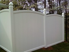 Arched privacy fence