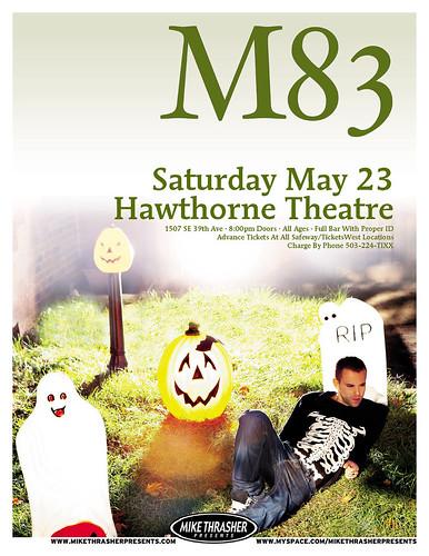 M83, hawthorne theater, portland