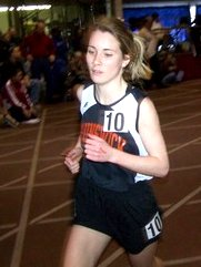 file photo of High School track star, Caroline Webster, #10 of Brunswick HS courtesy of Young