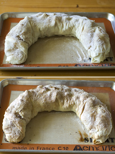 apple strudel - pre and post bake