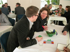 Tables in Conversation (World Caf Europe) Tags: worldcafe worldcaf wceurope worldcafeurope worldcafeeurope euregiomr patmunro euregiomaasrhein euregiomaasrijn euregiomeuserhin euregiomr2009 kickoffworldcaf kickoffworldcafe euregionmeuserhine grosgruppenkonferenz grosgruppen grosgruppenveranstaltung grosgruppenmoderation grossgruppenveranstaltung grossgruppenkonferenz grossgruppenmoderation largegroupevent largegroupfacilitation grossgruppe worldcafemethod worldcafemethode worldcafmethode