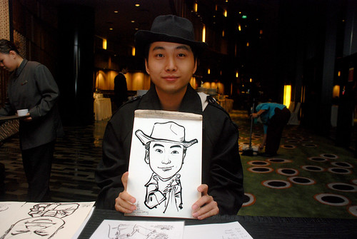 Caricature live sketching for CPGairport D&D - 9