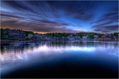 Stonington at night (madjbug&Astrid_Ari (away-busy)) Tags: reflection night canon landscape island lowlight nightshot maine scenic hdr deerisle stonington mainecoast xsi bluehill photomatix explore9 sigma1020 5exp jaybolton madaribug