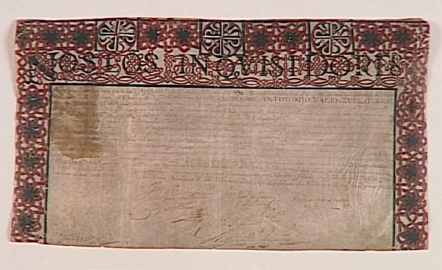Nos los inquisidores, 18 de noviembre de 1723. Museo de Arte y de Historia del Judaismo, París.