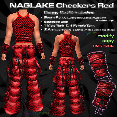 NAGLAKE Checkers Red