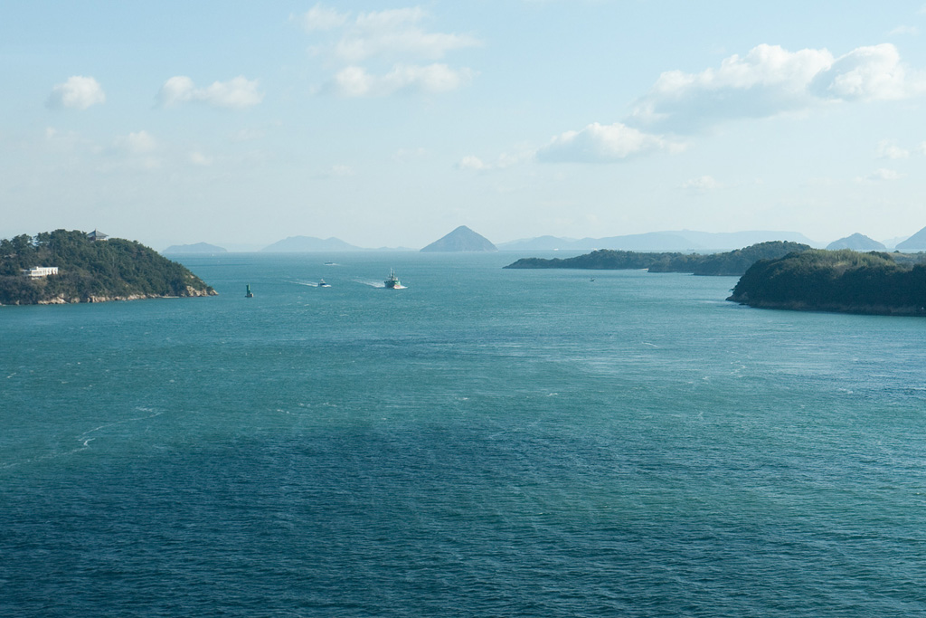 Seto Inland Sea (Seto-Naikai) view from Great Seto Bridge
