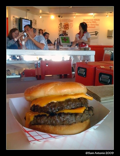 heart attack grill burger. Double Bypass Burger
