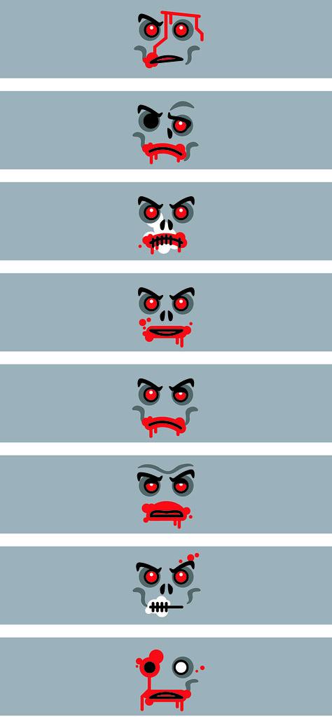 THE ZOMBIE HEADS (Flesh)