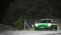 GT3RS in the rain. (Denniske) Tags: verde green wet rain june speed canon eos is drops groen track 1st action 911 rainy 01 09 porsche l mm grn dennis 06 rs 70200 2009 f28 ef verte gt3 997 nordschleife in noten lseries llens gt3rs brnnchen ontrack 40d nrbrgring denniske touristenfahren