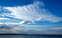 Before Sunset (irene gr) Tags: blue light sea sky white clouds landscape olympus explore zuiko 43 zd fourthirds 1454mm f2835 zuikodigital 1454mmii irenegr