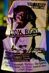ZIGGY poster (ar2r_weber) Tags: night poster lights sydney citylights kingscross davidbowie ziggystardust