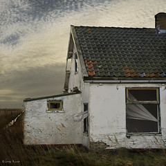 it's mind flew out of the window (moggierocket) Tags: old roof sky house window wind curtain barren deserted abandonment texel fallingapart 500x500 winner500