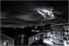 Lightning over Liverpool (petecarr) Tags: clouds liverpool nighttime lightning citycenter