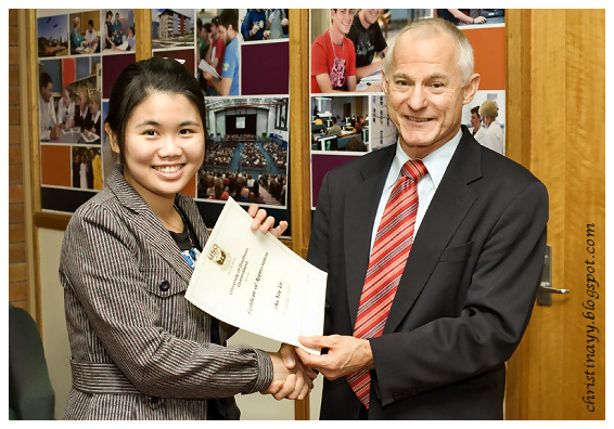 USQ Mentors 2009: Me & USQ Vice Chancellor